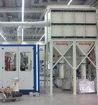 filtro Herding HSL su impianto macinazione a secco di metalli